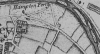 Moulsey Map of 1768 by John Roque